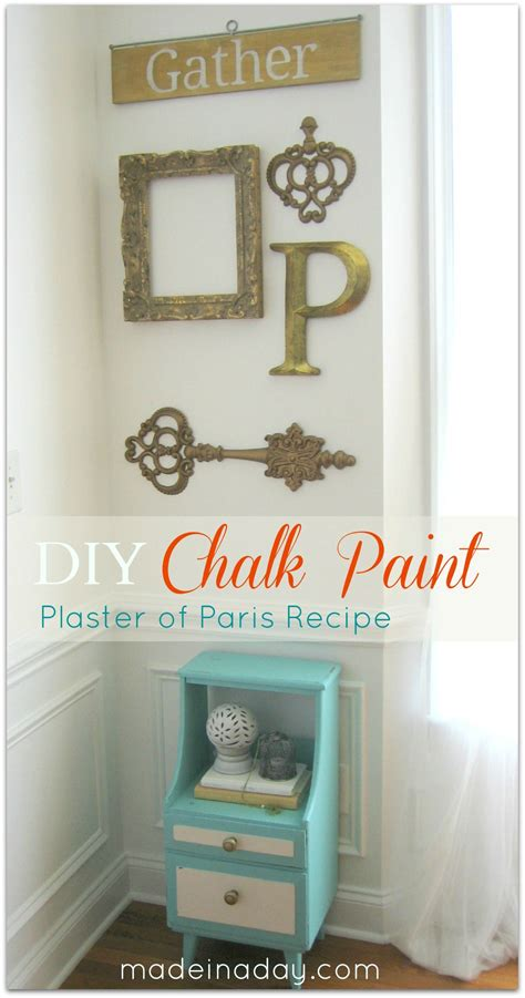 chalk paint recipe using plaster of chalk paint vintage side table up do made in a day