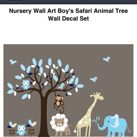 Nursery Safari Wall Decals Safari Animals Nursery Wall And Tree Wall Decals On Pinterest
