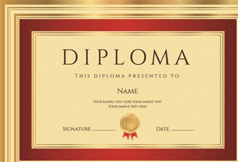diploma template diploma template free vector 12 682 free vector