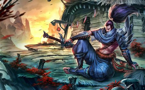 indir duvar kagidi efsane karakter  legends yasuo lig