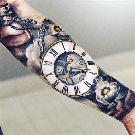 the top 30 pocket watch tattoos