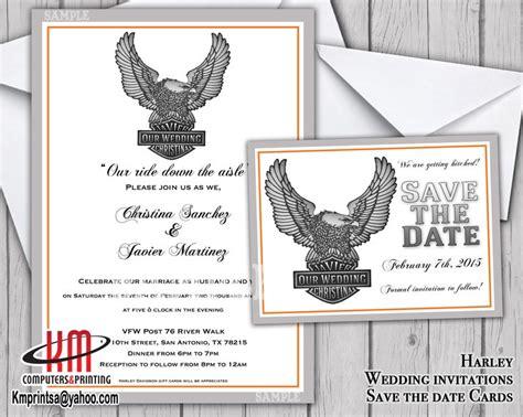 Harley Davidson Invitations by Harley Davidson Wedding Invitation Save The Date Card