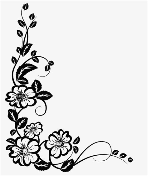 black corner pattern black corner pattern png image and
