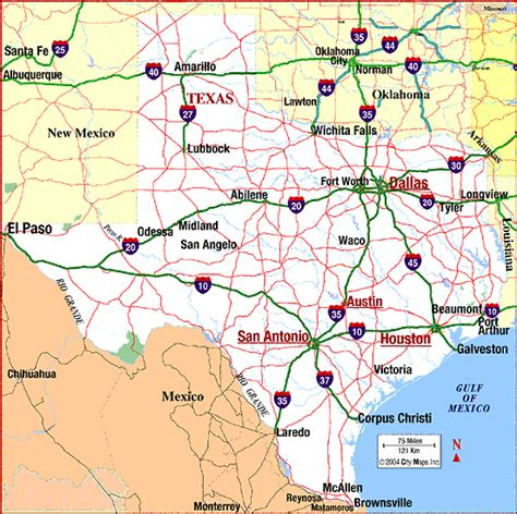 map texas roads maps map of texas
