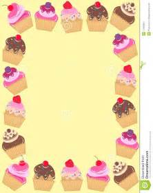 a frame of cupcakes royalty free stock photography image
