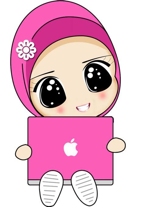 wallpaper pink kartun gambar kartun muslim muslimah newhairstylesformen2014 com