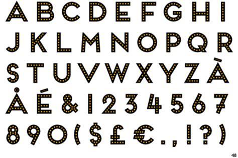 light font frontage bulb font fonts bulbs and fonts