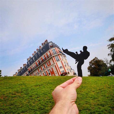 artist  paper cut outs  transform famous landmarks