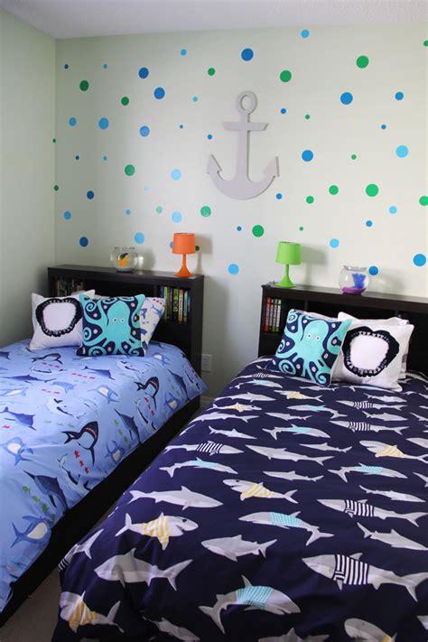 boys shark theme shared bedroom  pretty life   suburbs