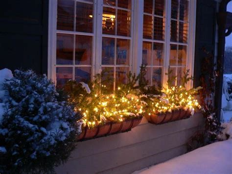 lighting christmas window box ideas seasons