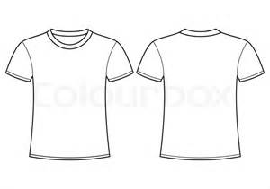Shirt Outline Eps by Blank T Shirt Template Front And Back Stock Vector Colourbox