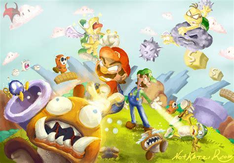 Kaos Mario Bross Mario Artworks 16 mario brothers fan by kodinkenji on deviantart