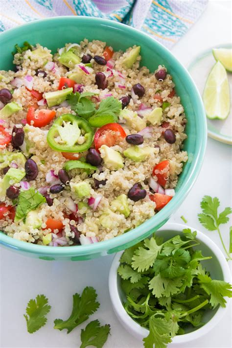 mexican quinoa salad with black beans and shape magazine mexican quinoa salad with black beans and avocado eating