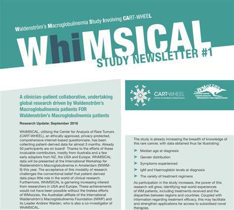 Patient Newsletter whimsical study newsletters waldenstr 246 m s
