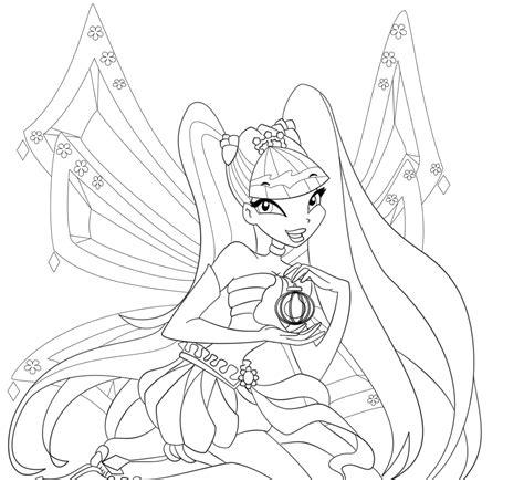 Winx Club Coloring Pages Stella free printable winx club coloring pages for
