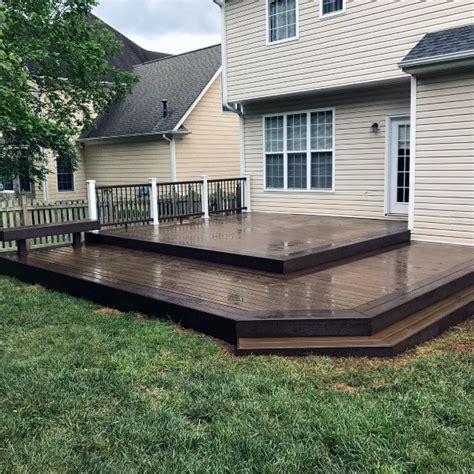 top   backyard deck ideas wood  composite