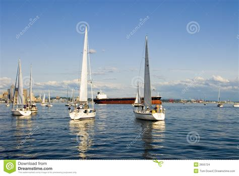 boat graphics seattle wa sailing in seattle stock images image 2655724