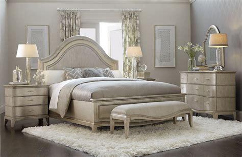 starlite silver panel bedroom set  art coleman furniture