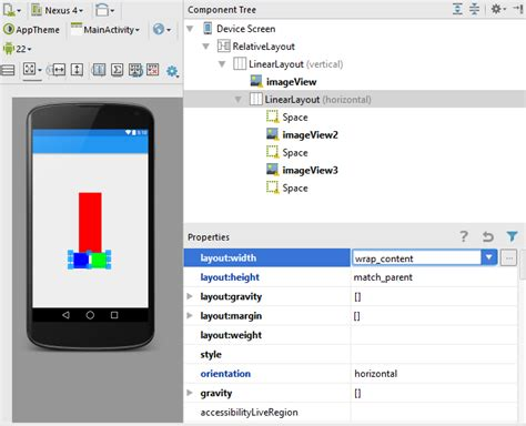 layout centerinparent android adapt layout to changing width of imageview
