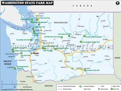 washington state usa map washington state parks map list of washington state parks