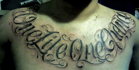 one life one chance tattoo one one chance on chest tattoomagz