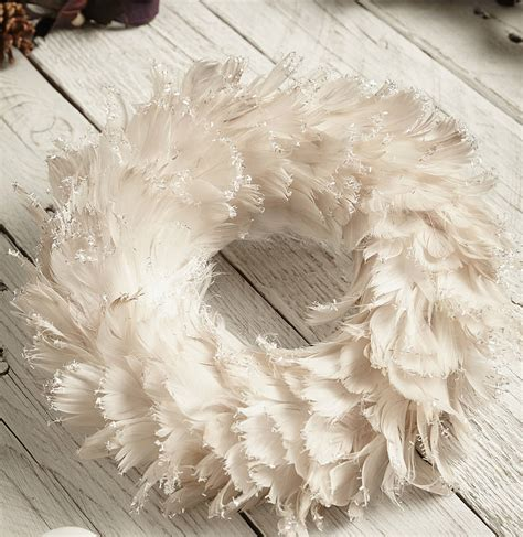 feather wreath feather wreath by lime lace notonthehighstreet