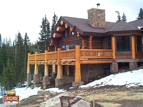 Handcrafted Log Home Builders - log homes post and beam cascade handcrafted log homes