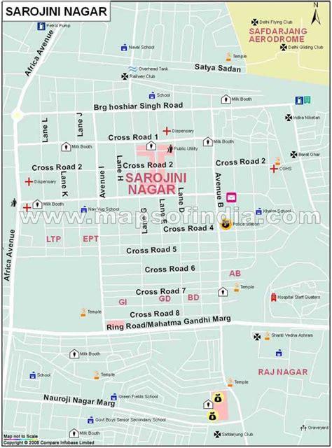 Sarojini Nagar Map