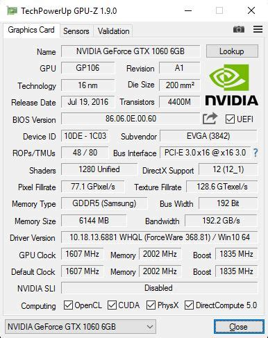 evga geforce gtx 1060 superclocked 6gb gddr5 review | geeks3d