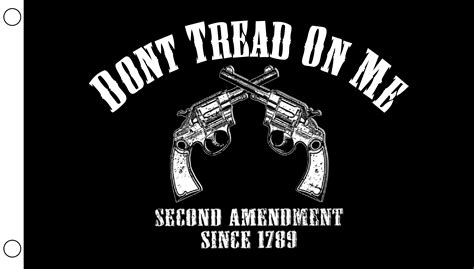 don t tread on me 2nd amendment 3 x5 flag flag