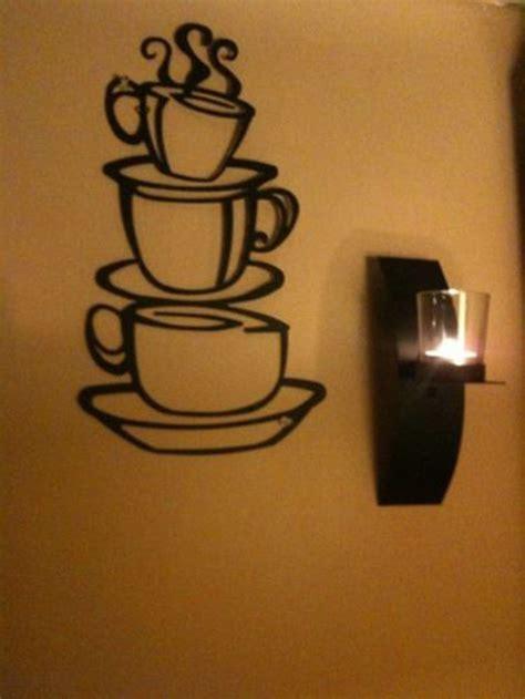 coffee wall decor coffee house cup java silhouette wall metal mug