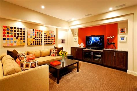 basement decorating ideas with modern and rustic themes