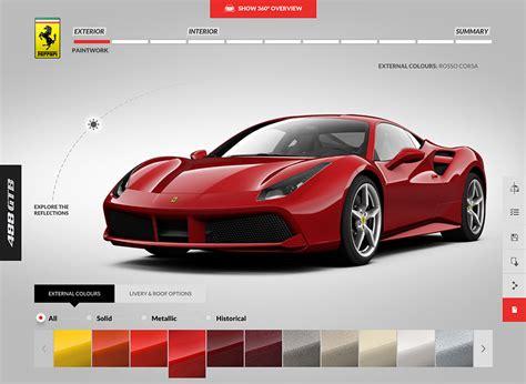 Ferrari Configurator by Ferrari 488 Gtb Configurator Goes Live 95 Octane
