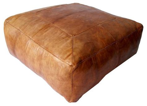 contemporary leather ottoman sold out large moroccan square leather ottoman 4 800