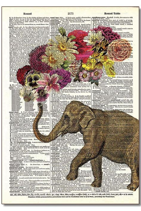 disney vintage prints vintage dictionary home decor art vintage dictionary art dictionary art elephant from
