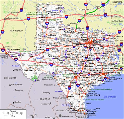 texas highway map with cities citytowninfo maps travelquaz