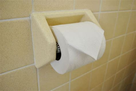 Hotel Toilet Paper Fold - the guest bath meh but functional house