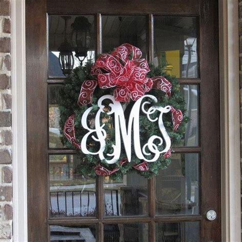 unfinished vine monogram door hanger initials door decor front do