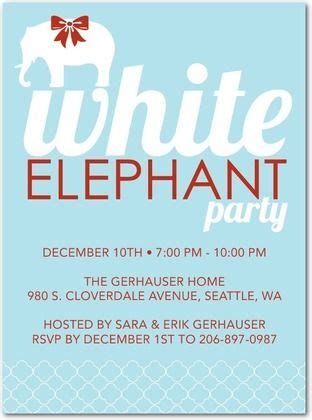 white elephant grabbag party white elephant invite white elephant gift gift and winter