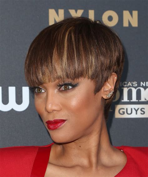 tyra banks with fringe bangs short hairstyle 2013 back view of hairstyles tapered hd short hairstyle 2013