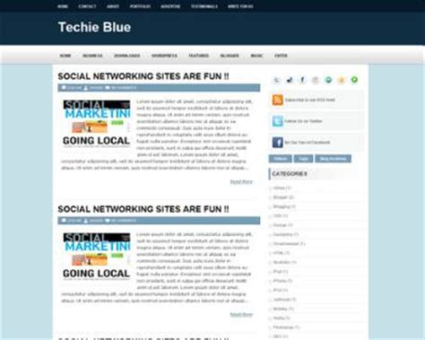 Theme Blog Xml | techie blue theme blogger templates 2013
