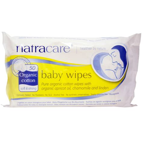 Baby Wipes natracare organic cotton baby wipes 50 wipes iherb