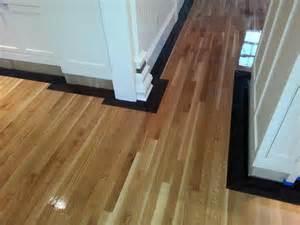 Rift Sawn White Oak Flooring Rift Sawn White Oak Flooring With 5 Quot Walnut Border In Marlboro Ma Central Mass Hardwood Inc