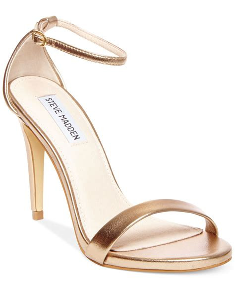 s two sandals steve madden s stecy two sandals in metallic