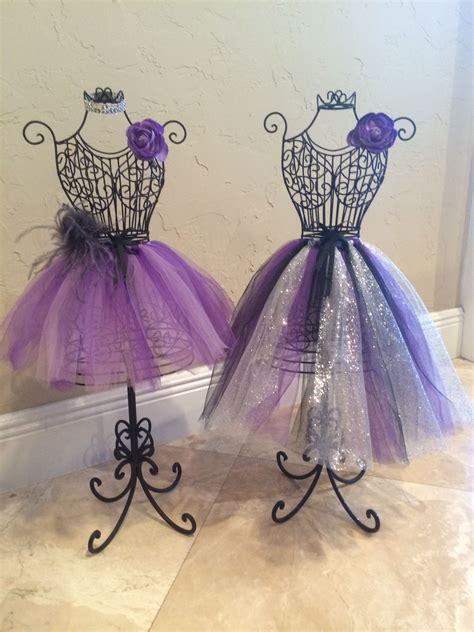 wire dress form centerpieces sweet 16 bedroom