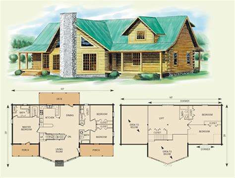 log cabin floor plans with loft log home house plans with loft home deco plans