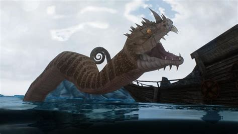 Serpents- Elements of Skyrim (mihail immersive add-ons ... Giant Sea Monster Skyrim