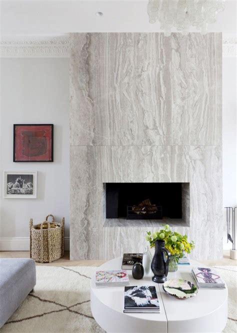 10 Stunning Stone Fireplace Mantels Thou Swell Modern Marble Fireplace