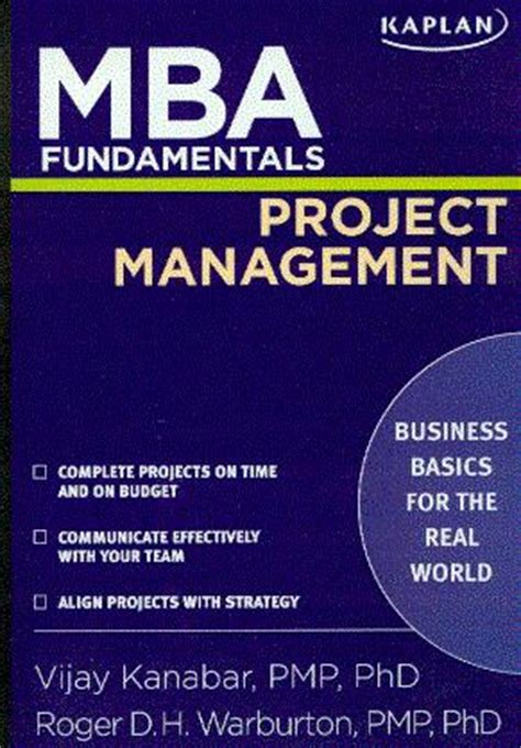 Should I Get An Mba For Project Management by Warburton Syllabi 2011