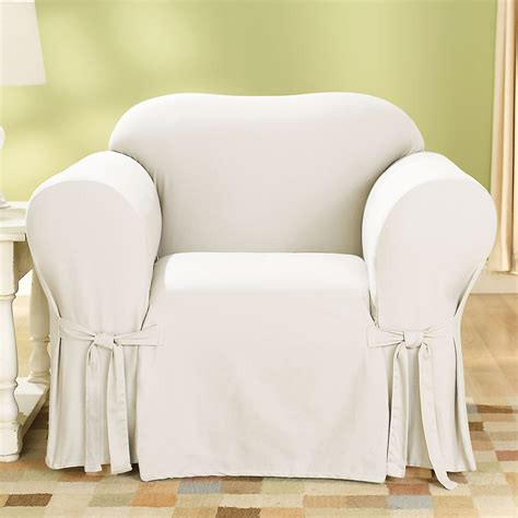 duck cotton slipcovers sure fit slipcovers cotton duck 1 piece chair slipcover